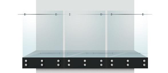 Pin fixed standoff balustrade