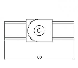 25x21mm Top Mounted Handrail Adjustable Corner