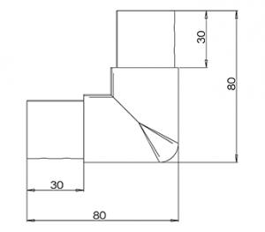 42.4MM U – CHANNEL 90˚ CORNER CAD