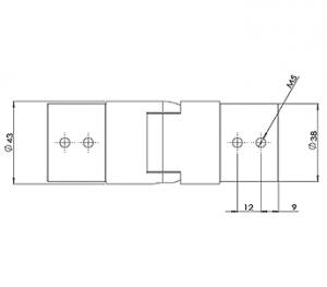 42.4MM U – CHANNEL ADJUSTABLE UP CAD