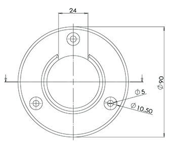 42.4 Round Top Mounted Handrail Wall Bracket