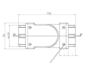 50x10 Handrail Adjustable Corner