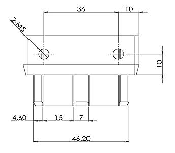 50x10mm Handrail End Cap