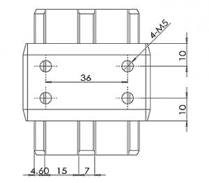 50x10mm Handrail Joiner CAD