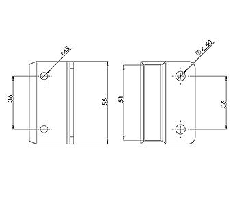 50x10 Handrail Wall Tie
