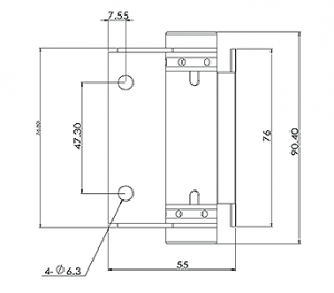 Glass Gate Hinge Wall/Post Mount CAD