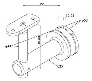 HANDRAIL BRACKET CAD