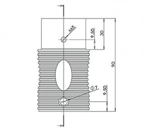 Round Spigot Extension CAD