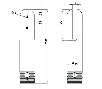 Round Core Drilled Balustrade Spigot