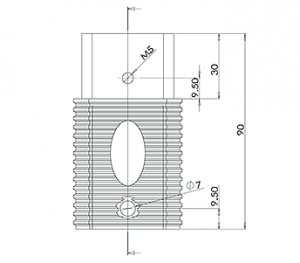 Square Spigot Extension CAD